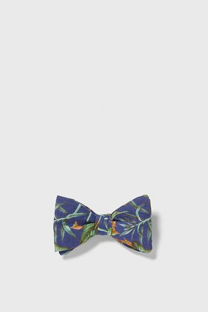 Zara Tropical print bow tie