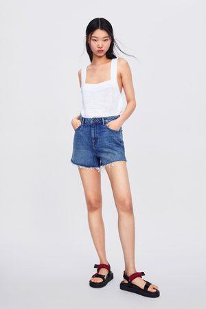 Zara Naiset Bermuda-shortsit - High waist soma shorts