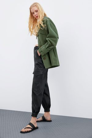 Zara Faux leather trousers with pockets