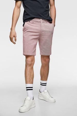 Zara Miehet Bermuda-shortsit - Textured bermuda shorts with contrast trim