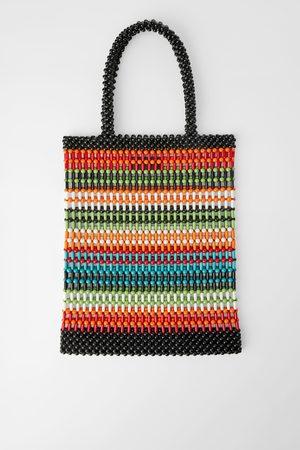 Zara Naiset Isot laukut & ostoslaukut - Multicoloured beaded tote bag