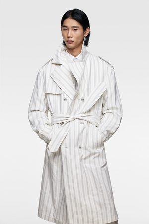 Zara Striped trench coat