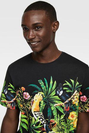 Zara Tropical print t-shirt