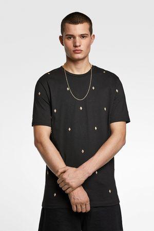 Zara Miehet T-paidat - Studded t-shirt