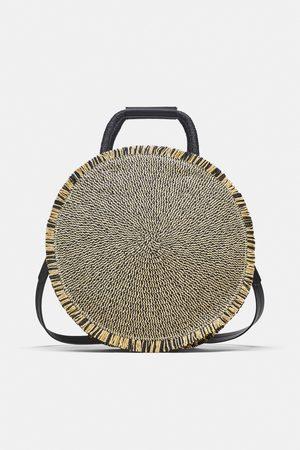Zara Naiset Round braided basket