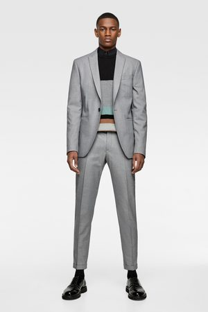 Zara Miehet Bleiserit - Textured panama suit blazer