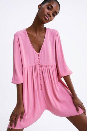 Zara Buttoned playsuit dress