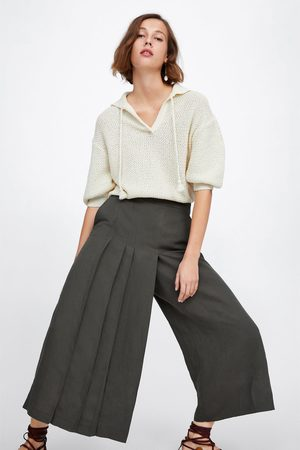 Zara Pleated wide-leg trousers