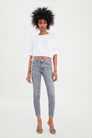 Zara Mid-rise skinny compact jeans