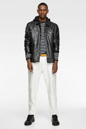 Zara Leather jacket with pockets