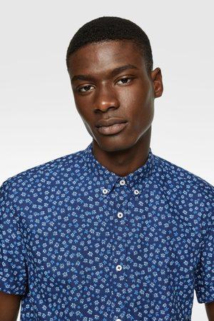 Zara Floral print oxford shirt