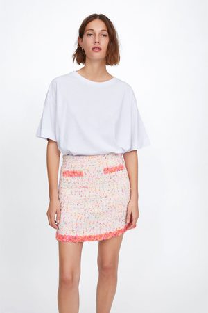 Zara Mini skirt with frayed trims