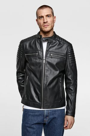 Zara Miehet Nahkatakit - Leather biker jacket