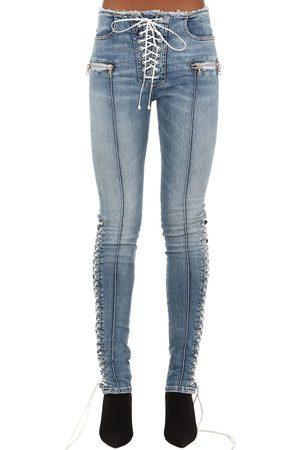 UNRAVEL Skinny Cotton Blend Denim Jeans