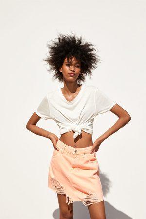 Zara Naiset Minihameet - Neon mini skirt