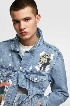 Zara Photo print denim jacket