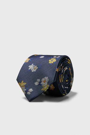 Zara Wide floral tie