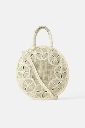 Zara Natural round tote bag