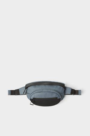 Zara Blue belt bag with mesh detail