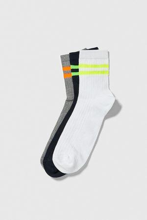 Zara Socks with neon stripes