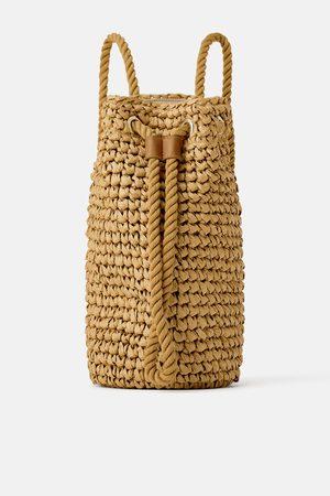Zara Braided beige backpack