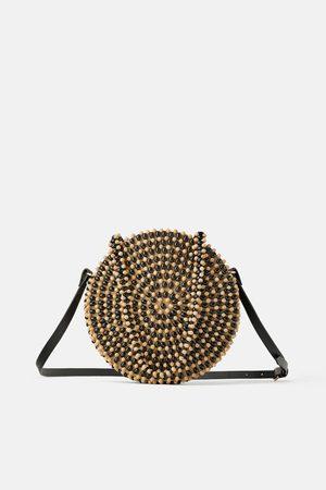 Zara Natural beaded crossbody bag