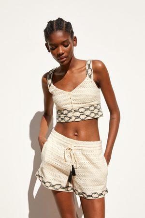Zara Crochet shorts