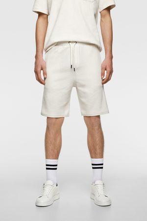 Zara Miehet Bermuda-shortsit - Bermuda shorts in check texture