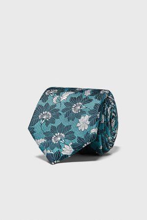 Zara Miehet Solmiot - Floral jacquard wide tie
