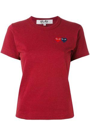 Comme des Garçons Naiset T-paidat - Slim-fit heart patch T-shirt
