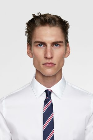 Zara Striped skinny tie