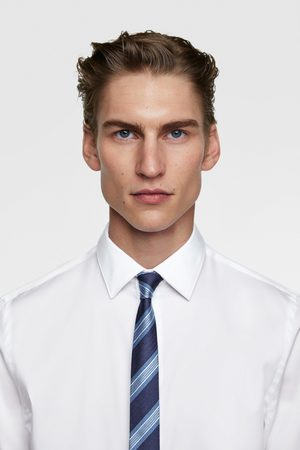 Zara Miehet Solmiot - Striped skinny tie
