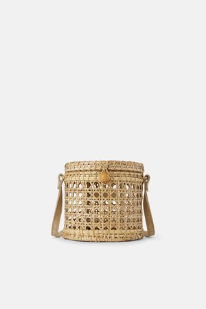 Zara Wicker crossbody bag