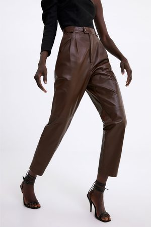 Zara Darted leather trousers