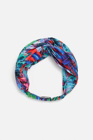 Zara Naiset Hiuspannat - Printed turban-style hairband