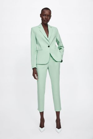 Zara Naiset Kapeat Housut - Skinny trousers with vents on the hems