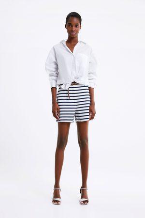 Zara Bermuda shorts with braided belt