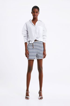 Zara Naiset Bermuda-shortsit - Bermuda shorts with braided belt