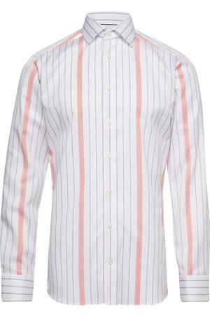 Eton Striped Cotton-Tencel Shirt Paita Bisnes