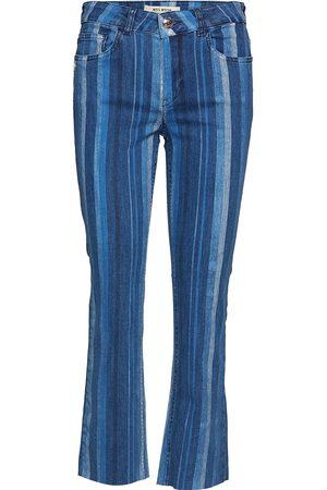 Mos Mosh Naiset Leveälahkeiset - Sim Stripe Jeans Leveälahkeiset Farkut