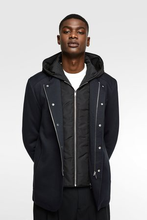 Zara Miehet Anorakit - Coat with contrast hood