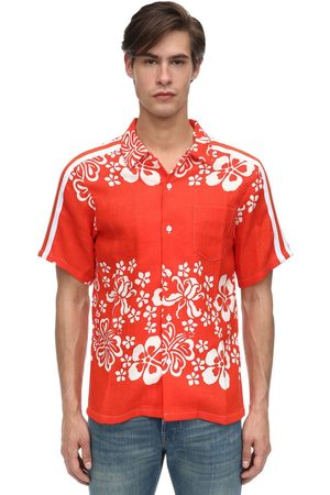 JUST DON Hawaiian Print Rayon Bowling Shirt