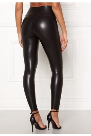 John Zack Faux Leather PU Legging Black S (UK10)