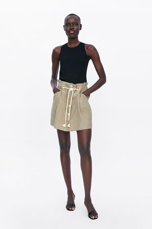 Zara Button-down mini skirt