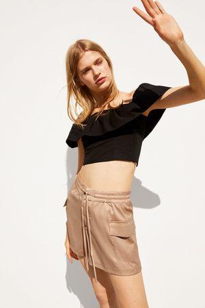 Zara Glossy bermuda shorts