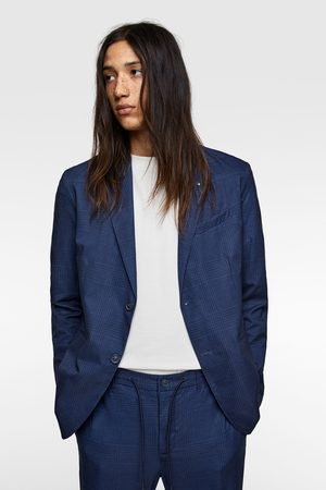 Zara Check technical suit blazer