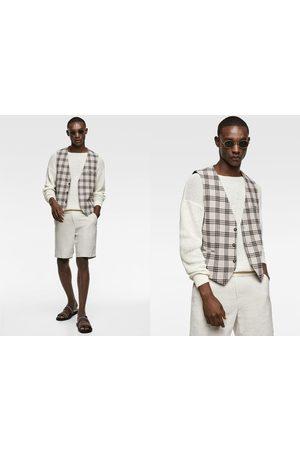 Zara Textured check waistcoat