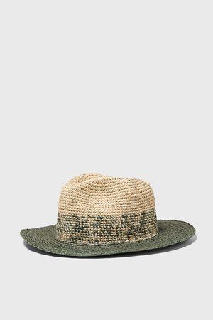 Zara Miehet Hatut - Two-tone textured weave hat