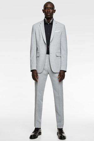 Zara Textured suit trousers