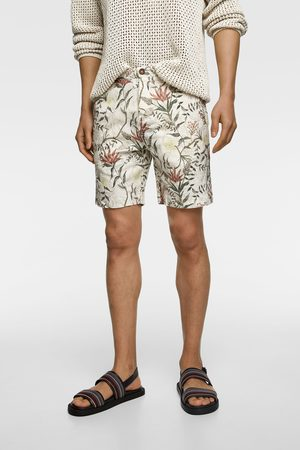 Zara Floral print rustic bermudas